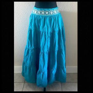 Dresses & Skirts - Teal Boho Skirt